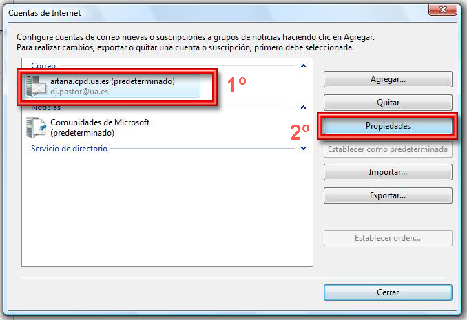 configuracion ssl Windows Mail 2