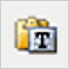 Icon hit like flat text